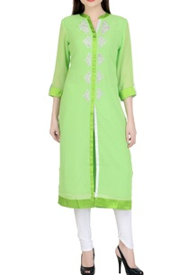 light-green-white-embroidered-kurta-set