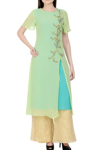 mint-green-blue-embroidered-kurta-set