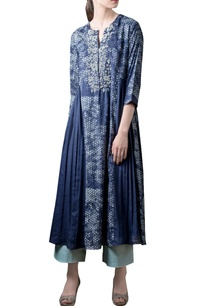 navy-blue-printed-gathered-kurta-set
