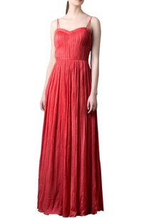coral-red-crinkled-maxi-dress