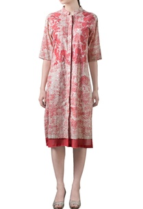 coral-red-beige-printed-tunic