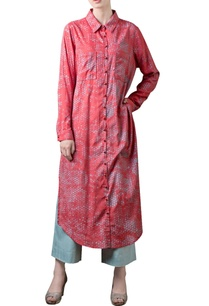 coral-red-printed-collared-tunic