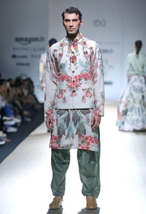 powder-blue-printed-kurta-set