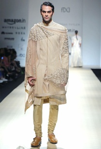 beige-embroidered-sherwani-set