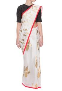 white-sari-with-abstract-ganesha-prints