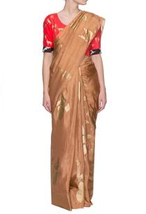 beige-golden-multi-print-sari