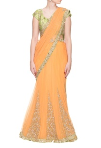 peach-embellished-sari-with-mint-border