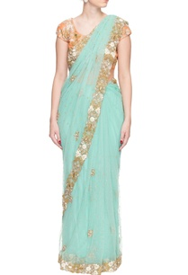turquoise-sequin-and-bead-embroidered-sari
