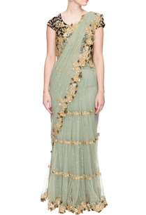 olive-green-floral-embroidered-sari-with-black-accents