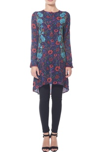 navy-blue-flower-printed-tunic