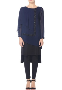 navy-blue-and-black-combination-tunic