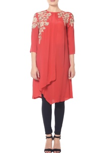 red-tunic-with-sequined-embroidery