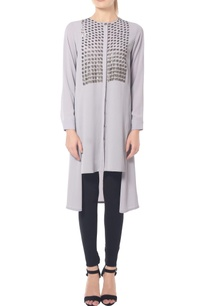 pastel-grey-shade-tunic-with-sequins-yoke