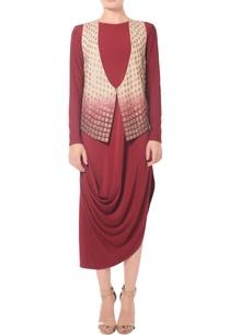 beige-burgundy-shaded-embellished-jacket
