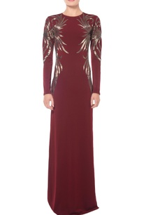 burgundy-swirl-embellished-gown