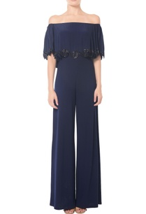 navy-blue-swirl-embellished-off-shoulder-jumpsuit