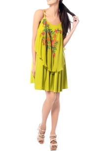 lime-embroidered-strap-dress
