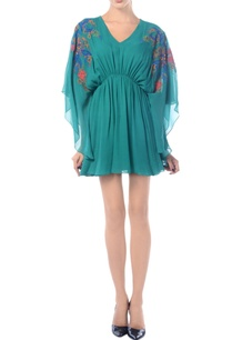 sea-green-embroidered-kaftan-dress