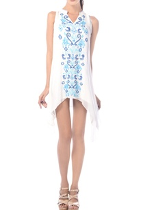 white-embroidered-asymmetric-tunic-dress