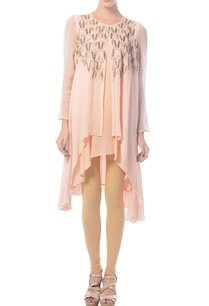 peachy-pink-embellished-layered-tunic