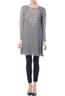 charcoal-grey-embellished-tunic
