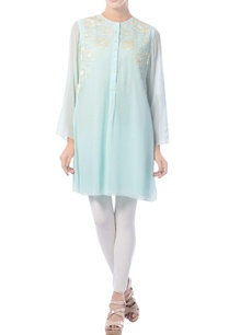 aqua-blue-embroidered-tunic