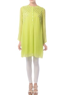 lime-hand-embroidered-tunic