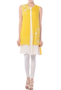 mango-yellow-white-layered-tunic
