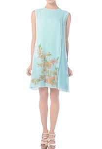 aqua-blue-floral-embroidered-tunic