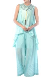aqua-blue-chanderi-embellished-jacket