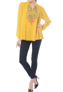 mustard-embroidered-bohemian-top