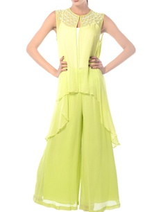 lime-georgette-palazzo-pants