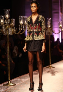 black-gold-embroidered-peplum-jacket