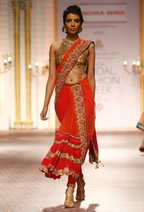 orange-floral-embellished-draped-sari