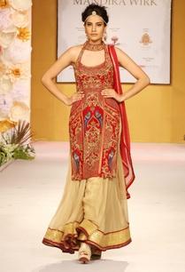 red-embroidered-kurta-with-sharara