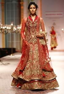 red-floral-zardosi-embellished-lehenga-set