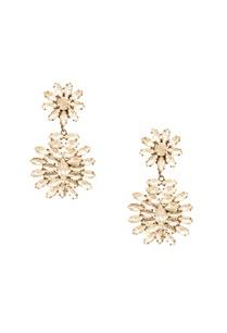 rhodium-plated-floral-motif-dangler-earrings