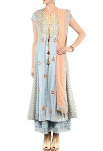ash-blue-peach-floral-printed-kurta-y-palazzo-set