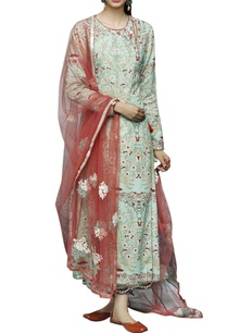 mint-red-floral-printed-kurta-palazzo-set