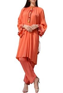 orange-thread-work-tunic-with-pants