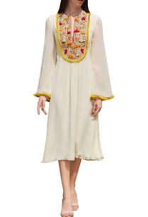 cream-dress-with-embroidered-yoke
