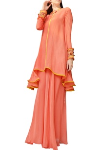 orange-embroidered-kurta-with-sharara-pants