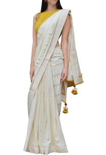 cream-striped-sari-with-embroidered-blouse
