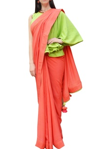orange-sari-with-one-shoulder-blouse