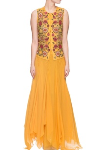yellow-floral-thread-embroidered-top
