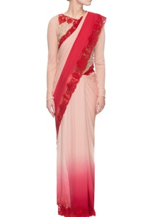 pink-red-ombre-shaded-sari