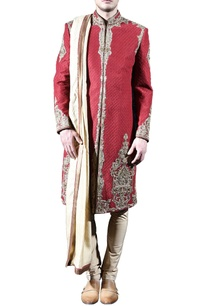 red-gold-embellished-sherwani