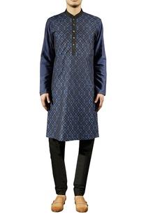 blue-embellished-silk-kurta-set