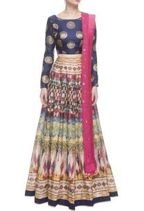 pink-turkish-print-skirt-set