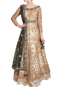 gold-green-sequin-work-anarkali-with-dupatta